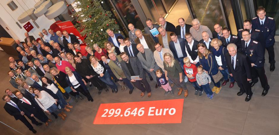 Sparkasse fördert 200 Vereine mit 299.646 Euro