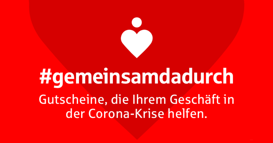 """Online-Gutschein-Plattform """"gemeinsamdadurch"""""""