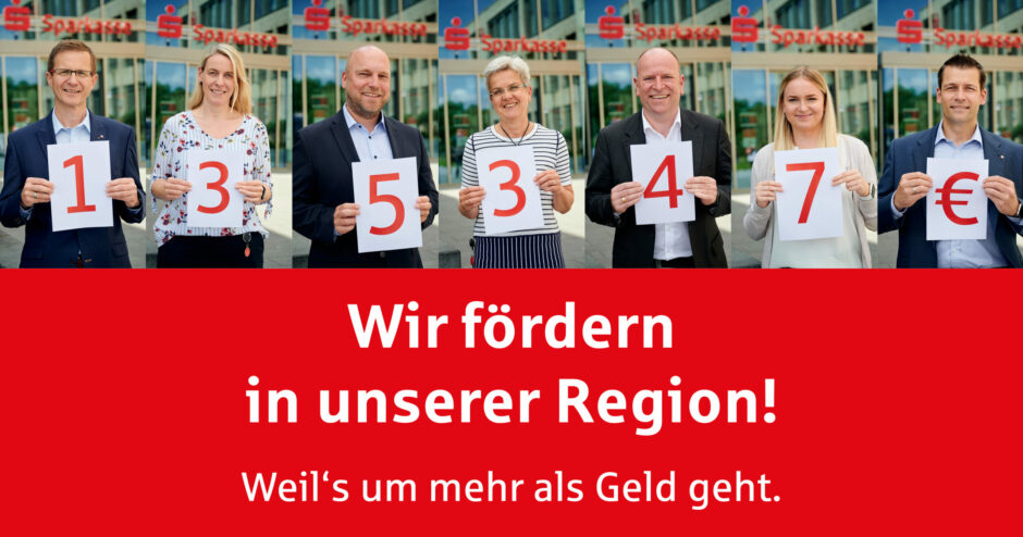 Mit 135.347 Euro fördern wir Vereine und gemeinnützige Projekte
